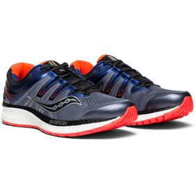 saucony Hurricane ISO 4 Shoes Men Grey/Blue/ViziRed